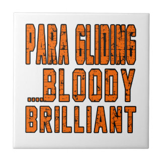 Para Gliding Bloody Brilliant Small Square Tile