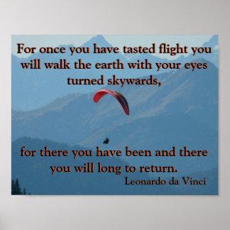 Para-Gliding Da Vinci Poster