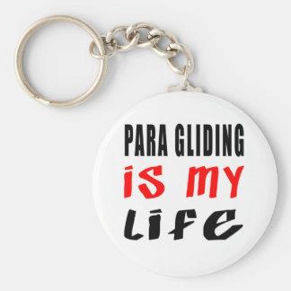 Para Gliding is my life Key Chain
