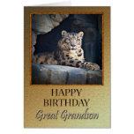 Para grande - nieto al cumpleaños con una onza tarjetas