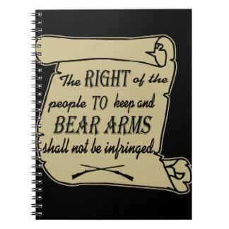 Para guardar y los brazos del oso no serán Scrol Spiral Notebook