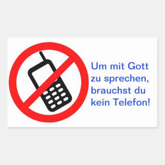 Para hablar con dios, no necesitas ninguno teléfon pegatina rectangular
