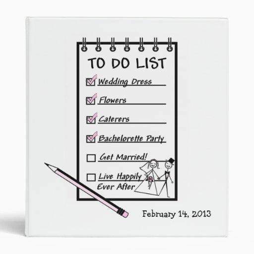 Para hacer al planificador del boda de la lista