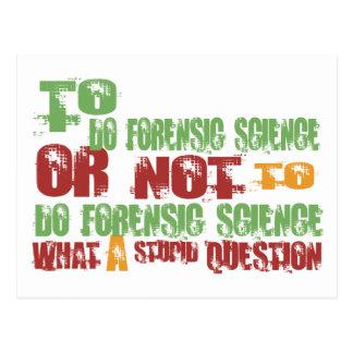 Para hacer ciencia forense postal