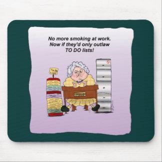 Para hacer el estómago divertido Mousepad del humo