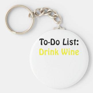 Para hacer el vino de la bebida de la lista llavero redondo tipo pin
