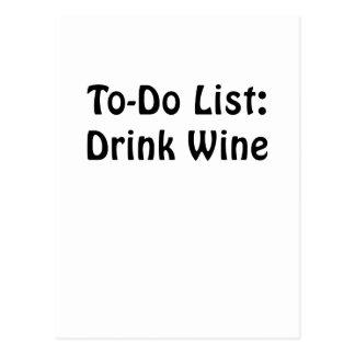 Para hacer el vino de la bebida de la lista postal
