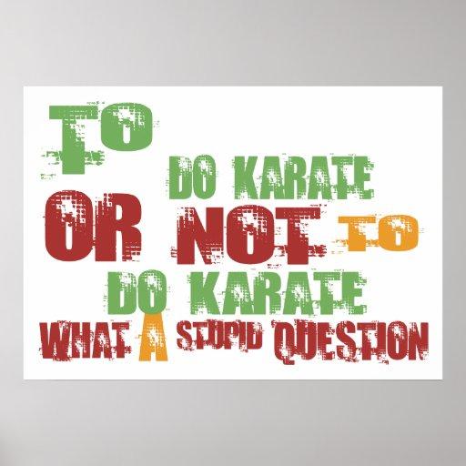 Para hacer karate póster