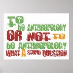 Para hacer la antropología posters