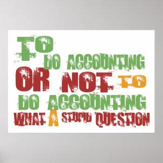 Para hacer la contabilidad poster