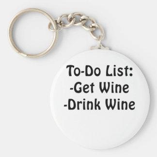 Para hacer la lista consiga el vino de la bebida llavero redondo tipo pin