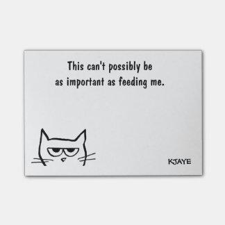 Para hacer la lista - gato enojado de la notas post-it®
