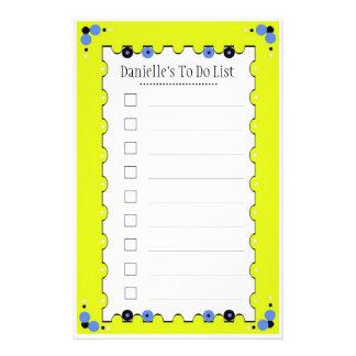 Para hacer la lista  papeleria