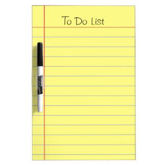 Para hacer la lista tableros blancos