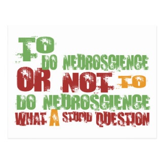 Para hacer la neurología tarjeta postal