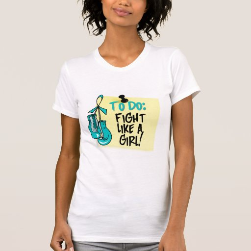 Para hacer la nota - lucha como un cáncer camiseta