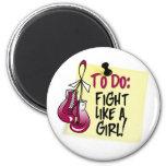 Para hacer la nota - lucha como un chica - cáncer  imán