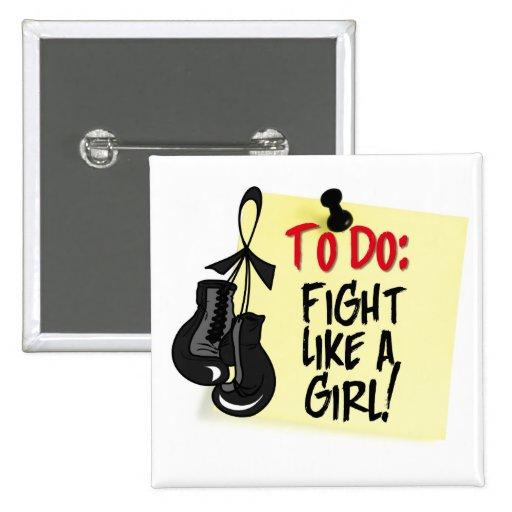 Para hacer la nota - lucha como un chica - cáncer  pin
