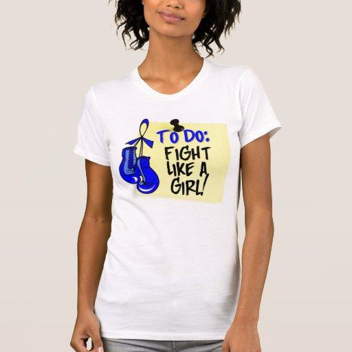 Para hacer la nota - lucha como un chica - cáncer camisetas
