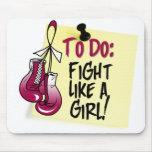 Para hacer la nota - lucha como un chica - cáncer  alfombrilla de raton