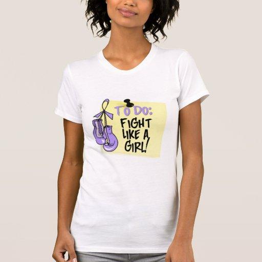 Para hacer la nota - lucha como un chica - general camiseta