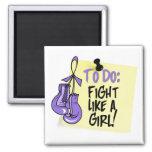 Para hacer la nota - lucha como un chica - linfoma imanes de nevera