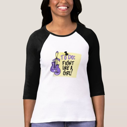 Para hacer la nota - lucha como un chica - linfoma camisetas