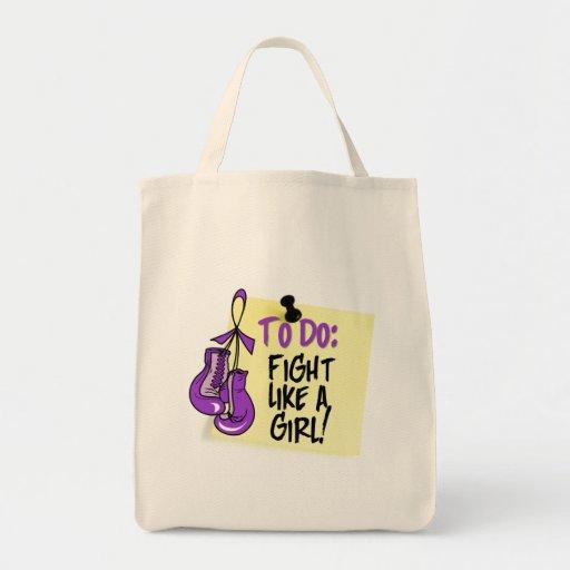 Para hacer la nota - lucha como un chica - lupus bolsa tela para la compra