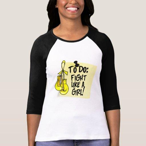 Para hacer la nota - lucha como un chica - sarcoma camiseta