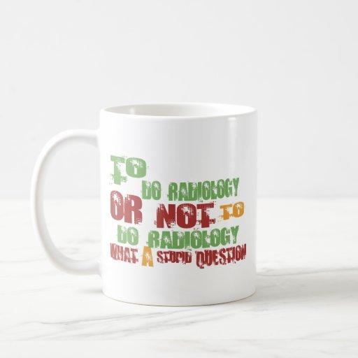 Para hacer la radiología tazas de café