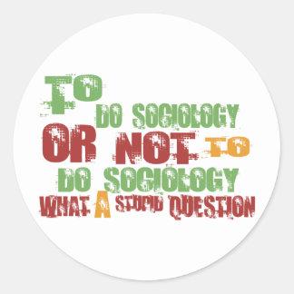 Para hacer la sociología pegatina redonda