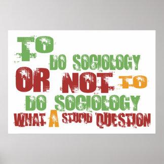 Para hacer la sociología póster