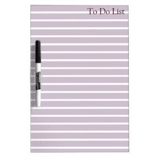 Para hacer la violeta Whiteboard de las rayas del