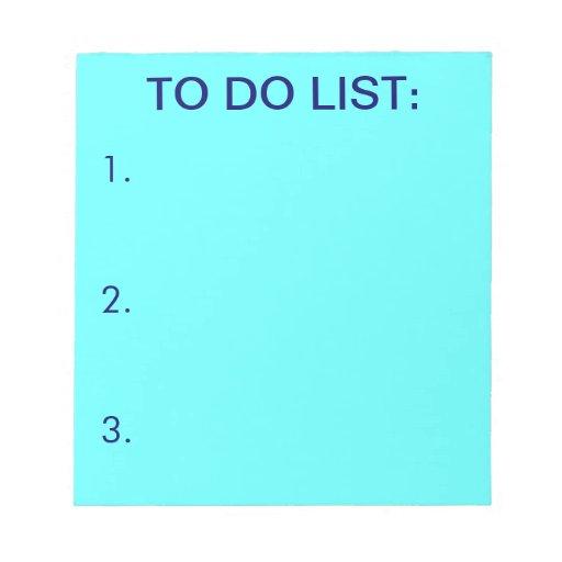 PARA HACER las libretas (azules claras) de la LIST Bloc De Notas