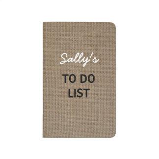 para hacer mirada de la arpillera del diario de la cuadernos grapados