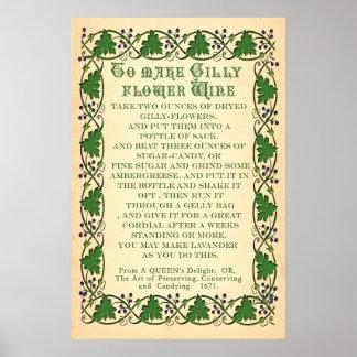 Para hacer que Gilly la flor Wine - poster antiguo
