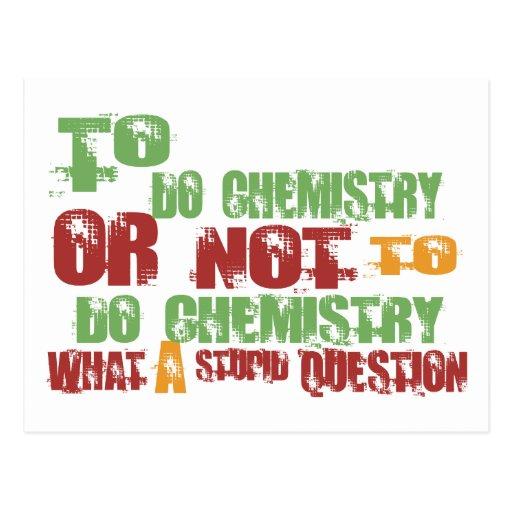 Para hacer química tarjetas postales