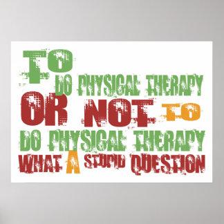 Para hacer terapia física poster