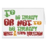 Para hacer terapia tarjeton