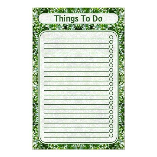 Para hacer verde clavado lista de la textura de la papeleria