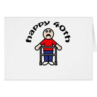 """Para hombre, """"40.o feliz """" tarjetón"""