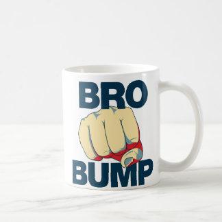 Para hombre divertido del topetón de Bro Tazas De Café