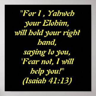 """Para I, Yahweh su Elohim, sostendrá su ri… Impresiones"