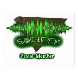 """Para-Is-Normal """"Proud Member"""" Postcard"""