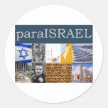 Para Israel Etiquetas Redondas