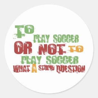 Para jugar a fútbol pegatinas
