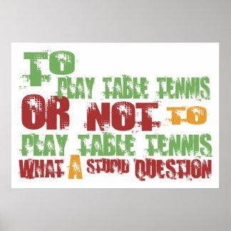 Para jugar a tenis de mesa póster