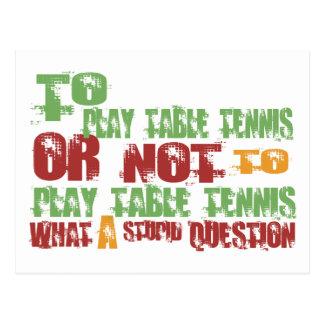 Para jugar a tenis de mesa tarjetas postales