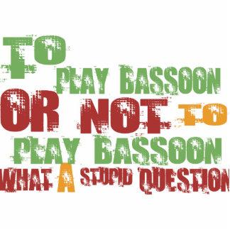 Para jugar el Bassoon Adorno Fotoescultura