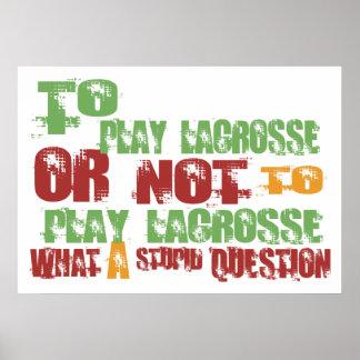 Para jugar LaCrosse Poster